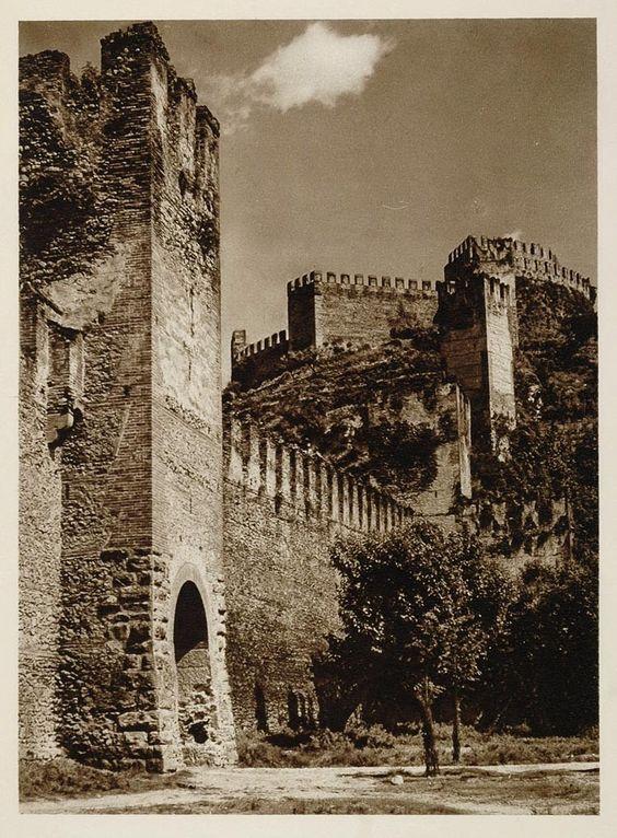 1925 Castello Soave Castle Verona Italy Kurt Hielscher - ORIGINAL ITALY: