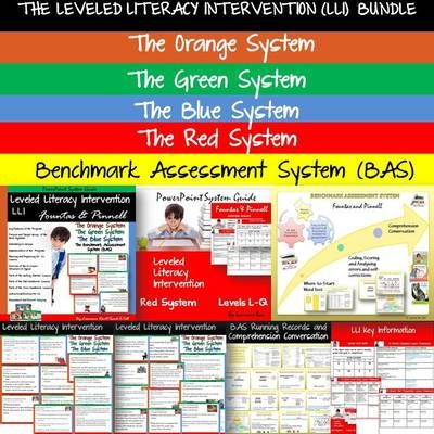 THE LEVELED LITERACY INTERVENTION BUNDLE AND BENCHMARK ASSESSMENT SYSTEM from TeachToTell on TeachersNotebook.com -  (201 pages)  - This 201 page Leveled Literacy Intervention (LLI) PowerPoint Guide bundle will equip you with key content information on the Fountas and Pinnell Leveled Literacy Intervention Systems.