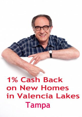 1% Cash Back Rebate on New Valencia Lakes Homes. http://tampaactiveadultliving.com/tampa-new-home-rebate/ #valencialakeshomes