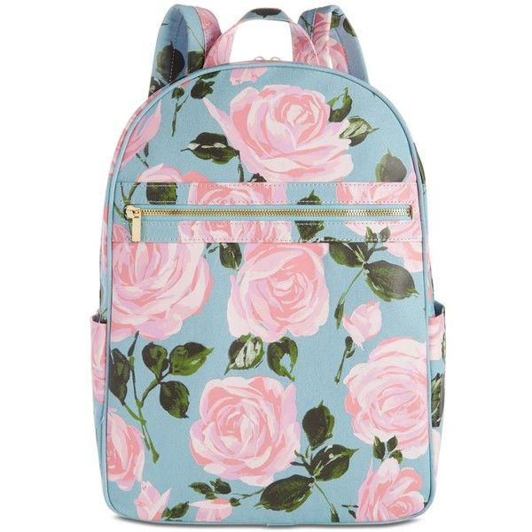 ban.do Rose Parade Backpack (3,270 PHP) ❤ liked on Polyvore featuring bags, backpacks, accessories, bolsas, rose parade, structured bag, day pack rucksack, pink bag, rose evening bag and zipper bag
