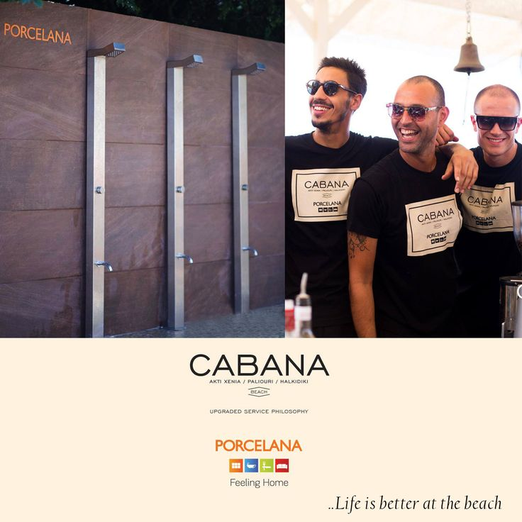 Are you enjoying the #summer? We do! Με άκρως καλοκαιρινή διάθεση η Porcelana άφησε το αισθητικό της αποτύπωμα στα #douche & #bath του μοναδικού Cabana Beach & σας εύχεται ένα υπέροχο & ξέγνοιαστο #weekend!