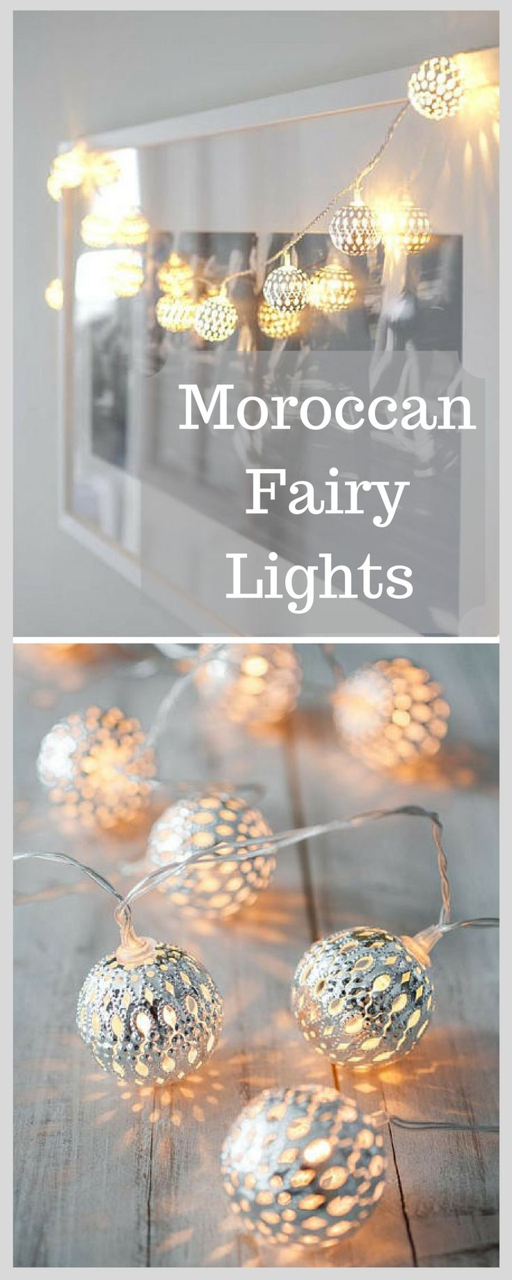 These moroccan fairy style fairy lights. They are perfect for a wedding decor or a room. #fairylights #moroccan #roomdecor #homedecor #ad #shopstyle