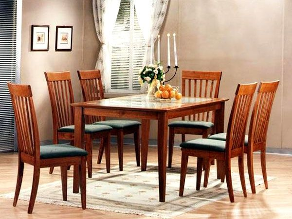 Zuari Kingston 6 Seater Dining Set With Glass Top