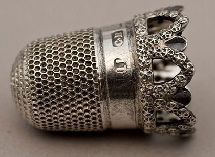 Antique Silver Thimble-Charles Horner