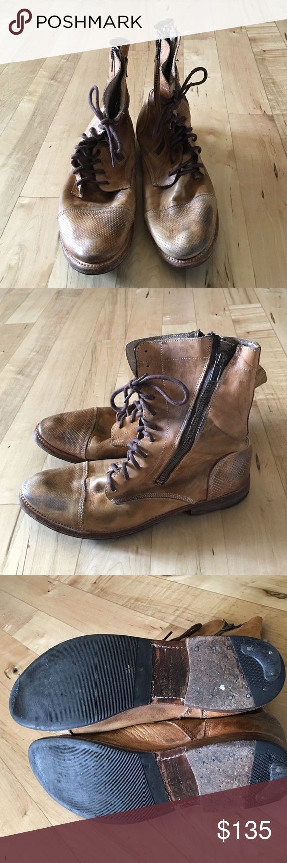 Bed Stu Tabor brown boots size 10 Women's size 10, great condition.  Distressed look so cute! Bed Stu Shoes Combat & Moto Boots
