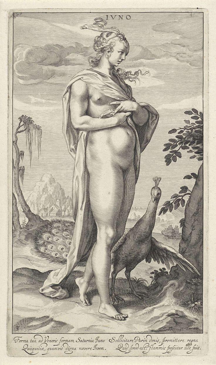 Juno met pauw, Willem Isaacsz. van Swanenburg, Michiel Jansz. van Mierevelt, 1595 - 1612