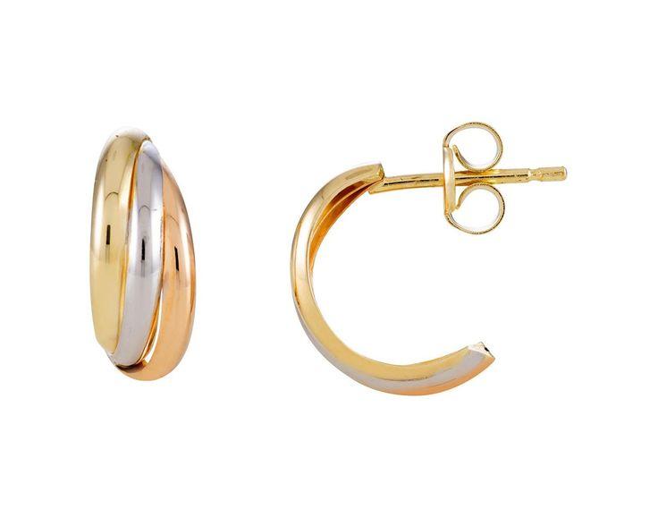 Glow Gouden Oorbellen Tricolor 206.0601.00. Mooie 14 karaats tricolor gouden Oorknoppen. Deze tijdloze en kwalitatief hoogwaardige Oorstekers gaan een leven lang mee en zijn vervaardigd uit een zeer hoge kwaliteit gekeurd rosé-, wit- en geelgoud. De glanzende afwerking geeft de oorknopjes een zeer elegant effect. https://www.timefortrends.nl/sieraden/gouden-sieraden/gold-collection.html#p=12