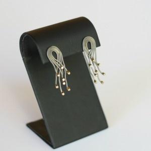 Metal and Zircon Earrings | Earrings | Loft Living Ltd