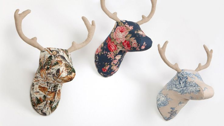 M s de 25 ideas incre bles sobre animales de tela en pinterest juguetes de tela patrones de - Cabezas animales tela ...