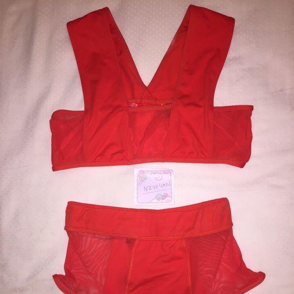 Classic 90s red mesh bikini by Minimale Animale Worn once! High cut super model sexy retro bikini by Minimale Animale. Rare and dead stock! Minimale Animale Swim Bikinis