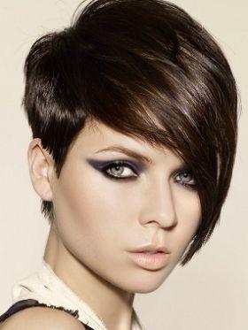 Long Bangs Short Hair Styles