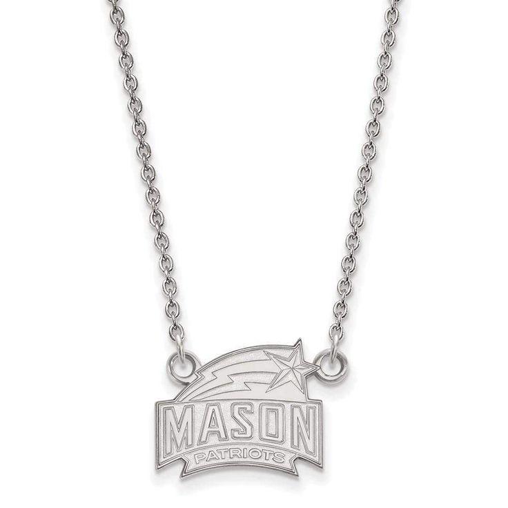 10kw LogoArt George Mason University Small Pendant w/Necklace