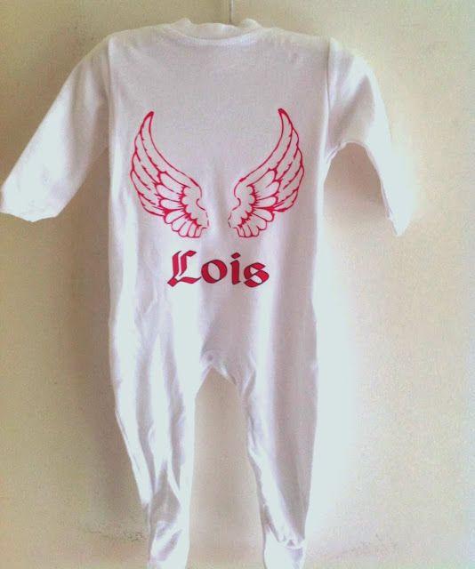 Angel Wings unisex babygrow new baby gift christening