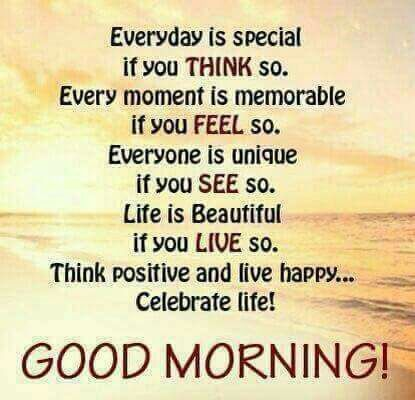 Good morning...have a nice day!
