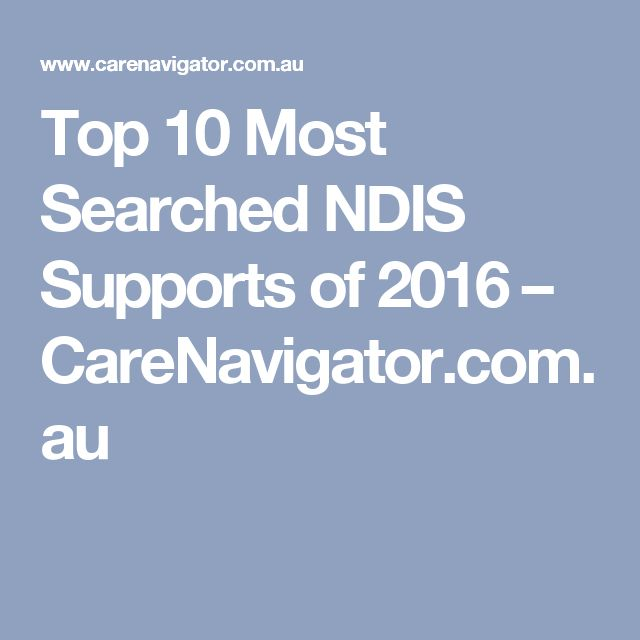 Top 10 Most Searched NDIS Supports of 2016 – CareNavigator.com.au