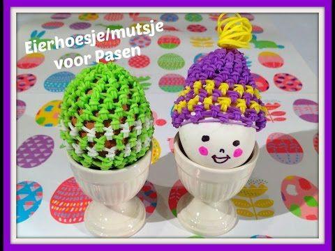 Rainbow Loom Nederlands, hoesje voor ei, Pasen . egg cover