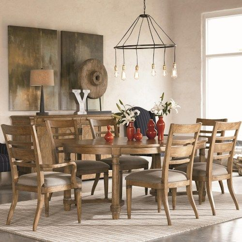 Reinventions 7 Piece Oval Table And Chair Set By ThomasvilleR At Johnny Janosik