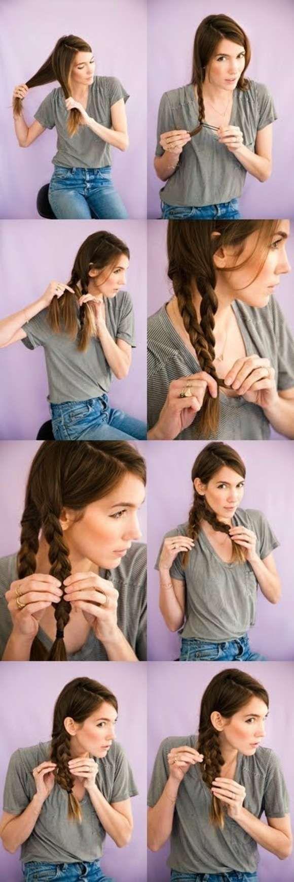 idée de tresse sur le coté pour cheveux longs