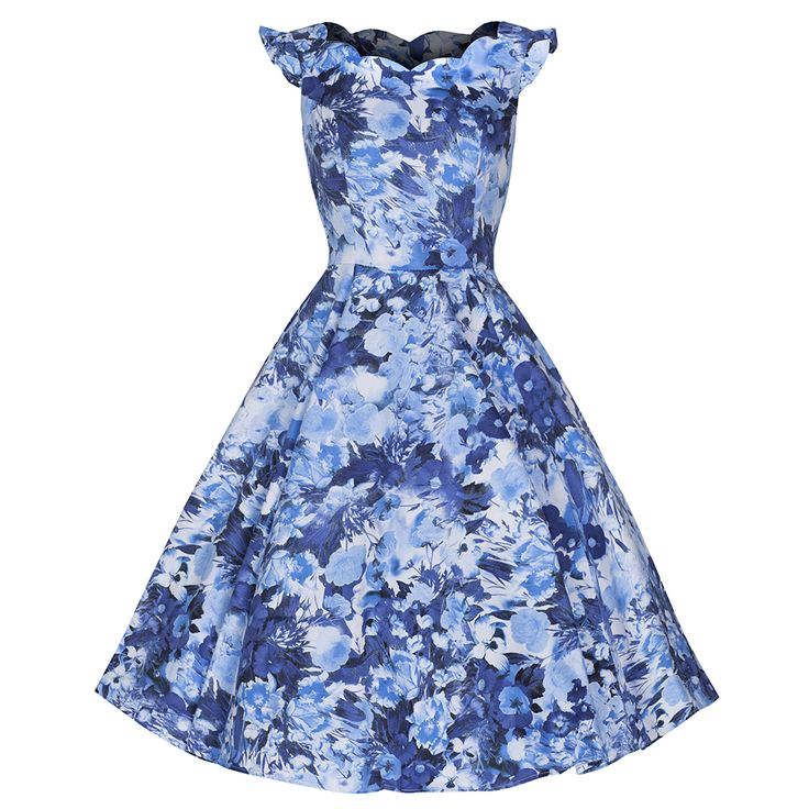Stunning Blue Multi Floral Frill Sleeve Swing 50s Dress Striking Royal Blue/Sky Blue Floral Print on A Luxurious Stretch Cotton Fabric Featuring Pretty Frilled Cap Sleeves and Classy Ruched Bust Detail 97% COTTON 3% ELASTANE MACHINE WASHABLE Elegant Pretty Cap Sleeve Dress Featuring Scalloped Neckline An Eyecatching Floral Print And Full Flare Skirt – A […]