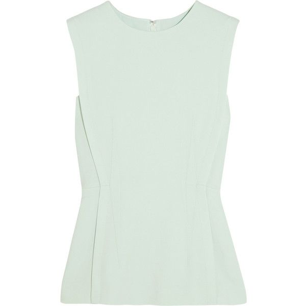 Alexander Wang Stretch-crepe top featuring polyvore, fashion, clothing, tops, shirts, alexander wang, mint, alexander wang top, shirts & tops, mint shirt, alexander wang shirt and mint green shirt