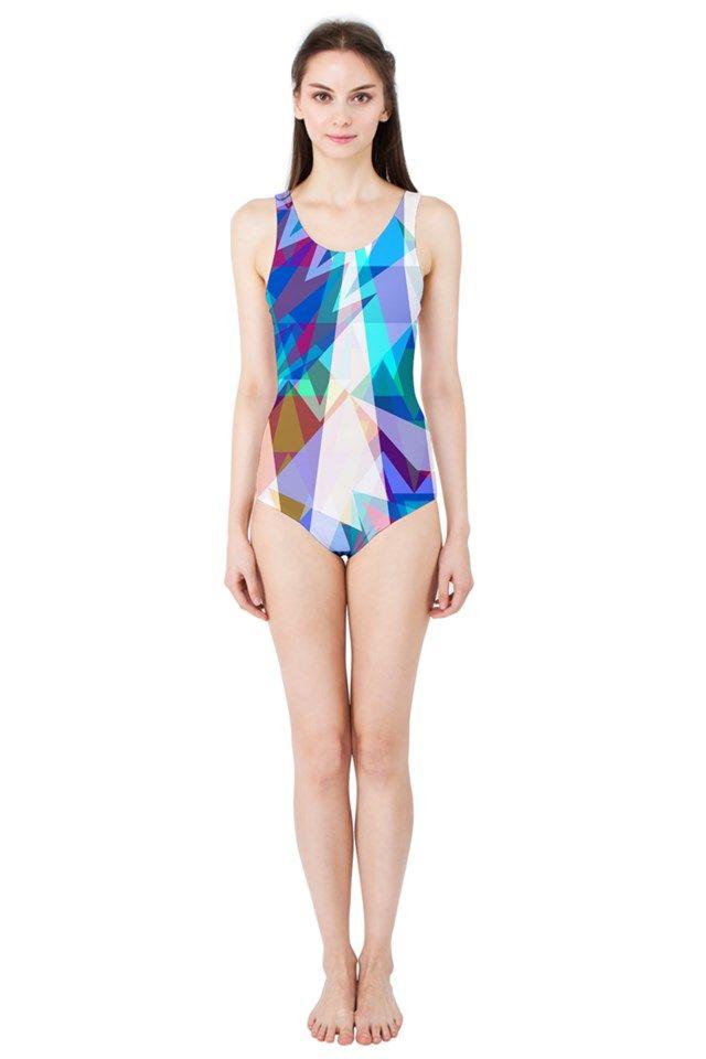 Triangle Party_MirandaMol Women's One Piece Swimsuit  #pinkcess #mirandamol #fashion #cool #beachwear #swimsuit #beach #summer #pinkcess #pinkcessfashion #pnkx