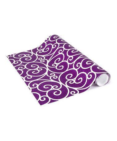 Another great find on #zulily! Purple Scroll Locker Wallpaper by LockerLookz, $14 !!  #zulilyfinds