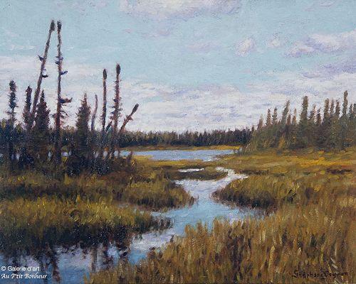 Stéphane Gagnon, 'Une belle journée au marais', 16'' x 20''   Galerie d'art - Au P'tit Bonheur - Art Gallery
