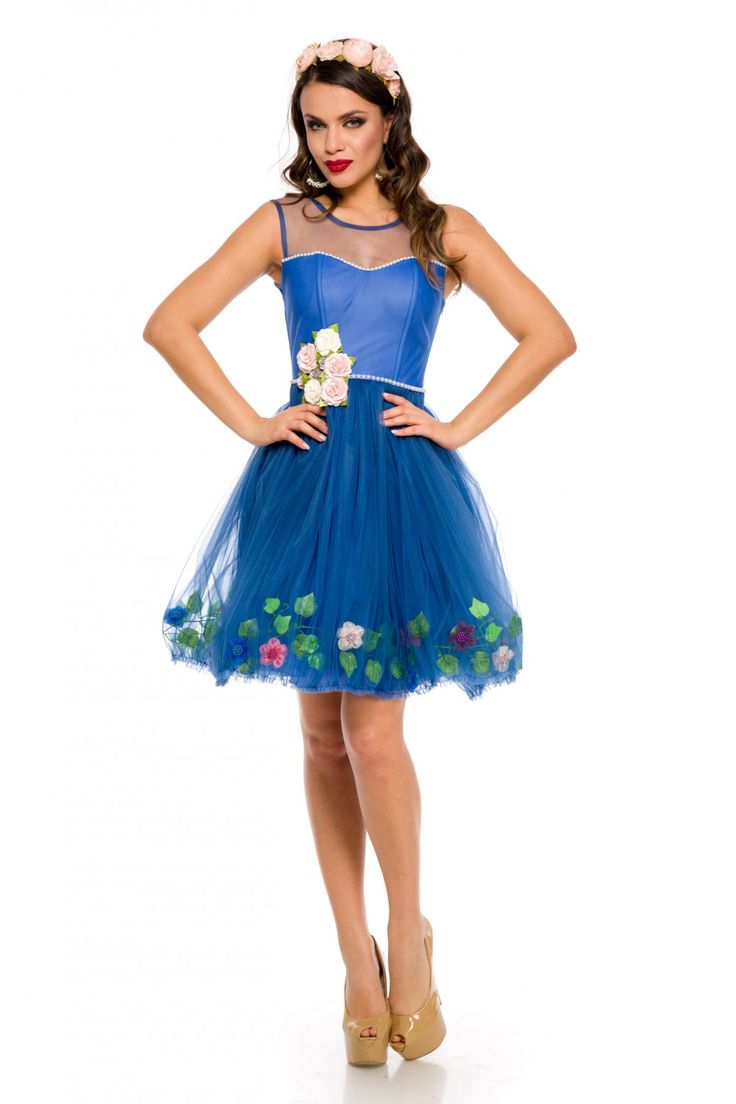 Rochie Delicate Albastra 249 lei Rochie tip baby-doll din tull albastru