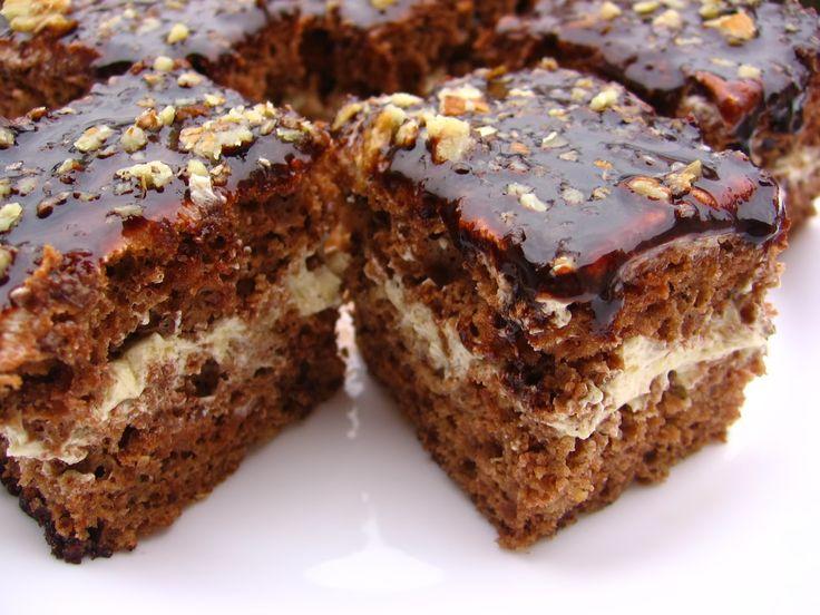 Κέικ σοκολάτας γεμιστό με κρέμα καφέ, (παστάκια) ! |