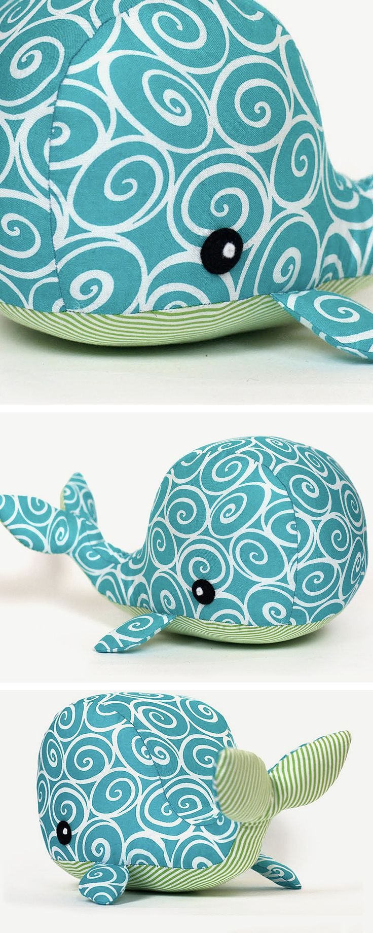 DIY tutorial: Sew a Whale Soft Toy  via en.DaWanda.com                                                                                                                                                                                 More