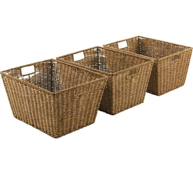 Buy HOME Set of 3 Large Seagrass Storage Baskets - Natural at Argos.co.uk, visit Argos.co.uk to shop online for Storage baskets and boxes, Storage, Home and garden