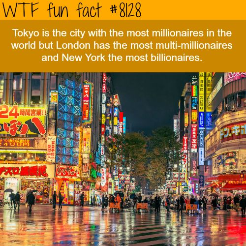 The city with most millionaires - WTF fun facts
