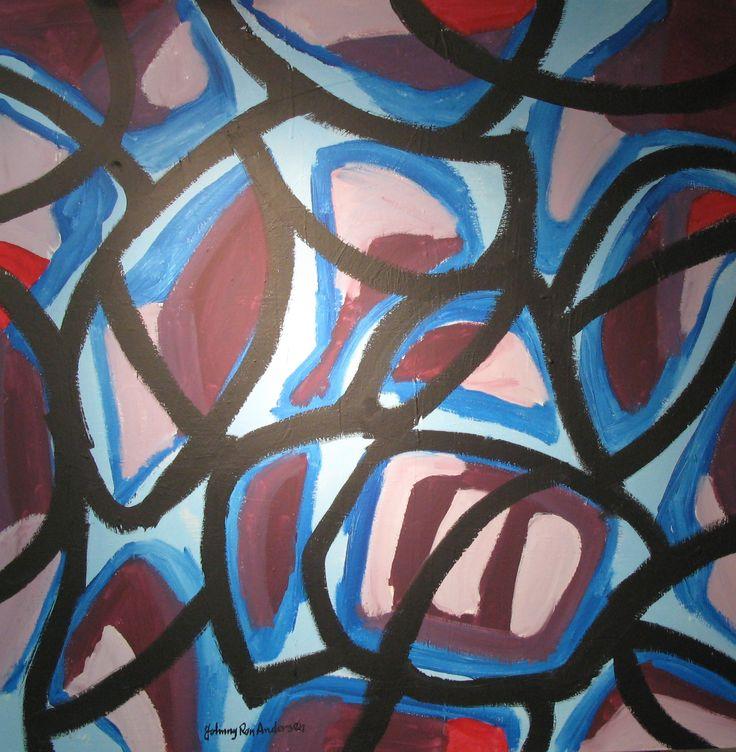 Maleri Kontur 100x100 cm