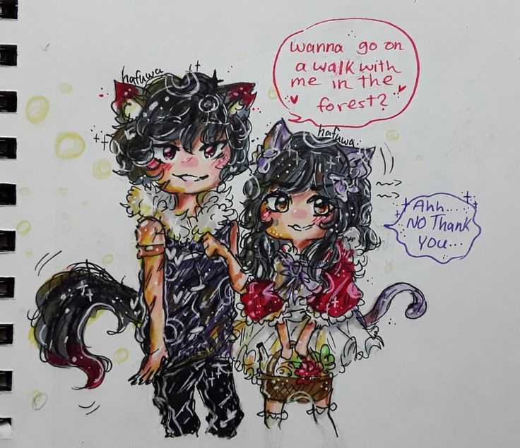 """3,899 Likes, 115 Comments - aki_neko (@hafuwa) on Instagram: """"Did a little spooky Boobcinda Comment aphmau characters or my oc's (I don't really care xD) and a…"""""""