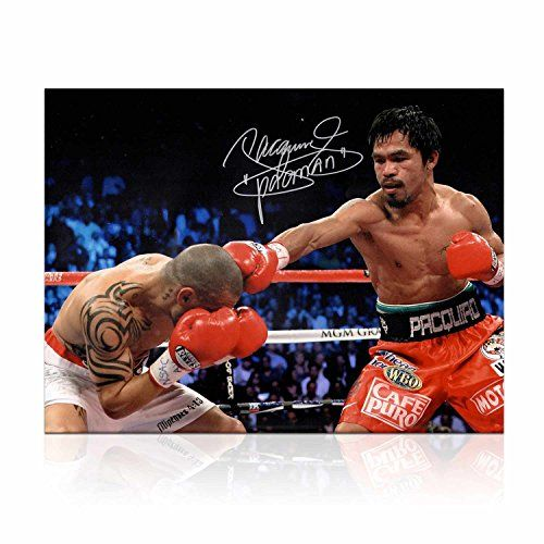 Manny Pacquiao Signed Boxing Photo: Victory Over Cotto @ niftywarehouse.com #NiftyWarehouse #PacMan #VideoGames #Pac-man #Arcade #Classic