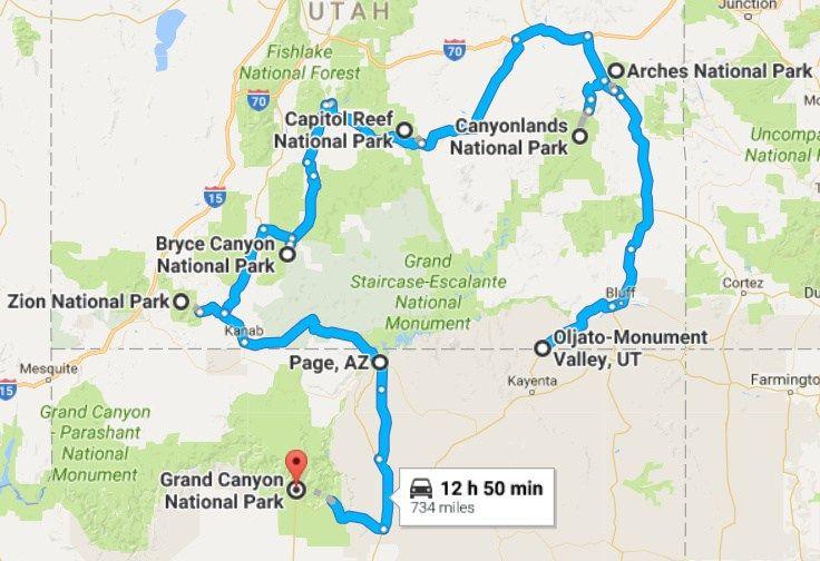The Ultimate Road Trip: Utah & Arizona | Arizona road trip ...