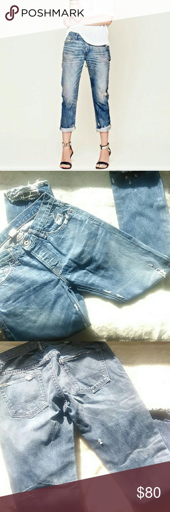 NSF Slouch Jeans Great oil stained, distressed,  straight slouch jeans size 24. NSF Jeans Straight Leg