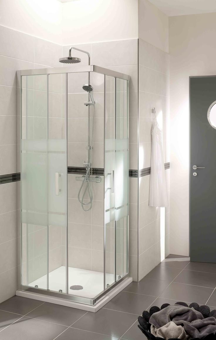 Douche acc s d 39 angle mod le vogue - Modele salle de bain douche ...