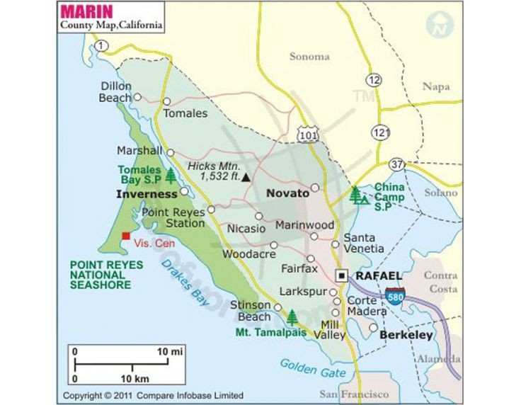 Buy Marin County Map
