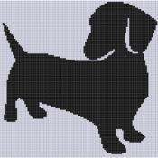 Weiner Dog 4 Cross Stitch Pattern - via @Craftsy