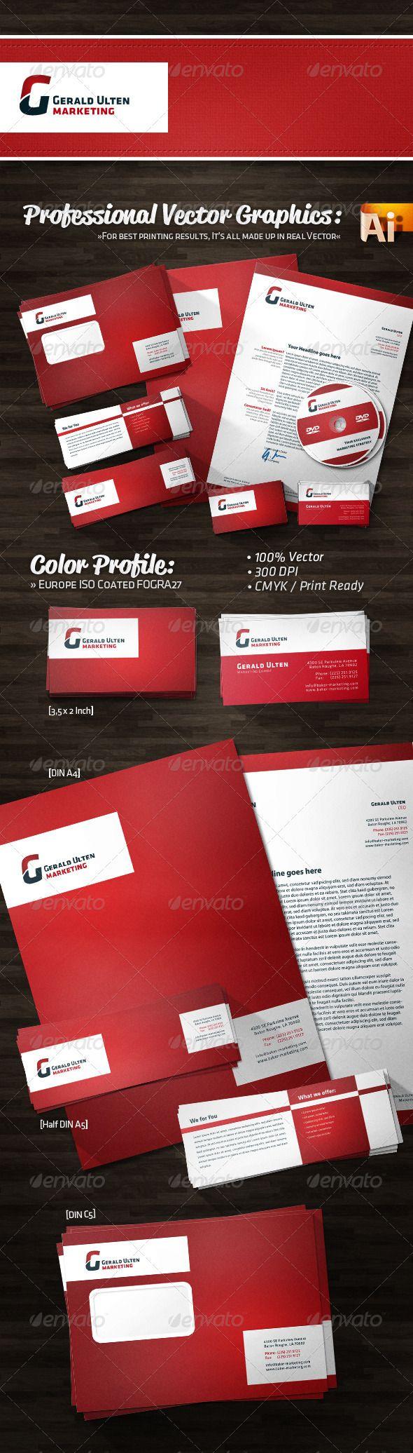 Bold Simple Marketing Corporate Identity