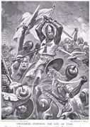 Crusaders Storming the City of the Tyre, illustration from H...  by Stanley L. Wood