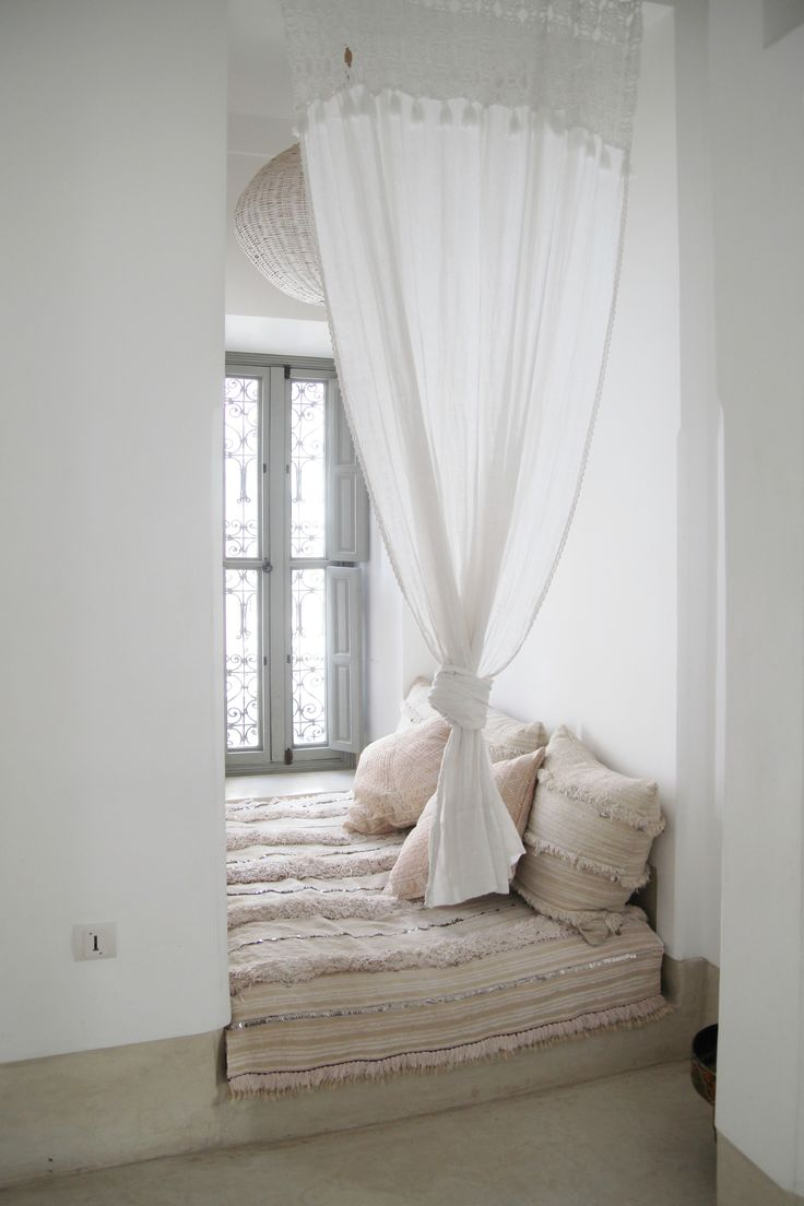 Moroccan curtains white - See More