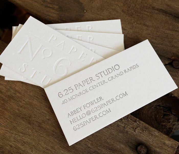 6.25 Paper Letterpress Business Cards - emilyjpotts.com