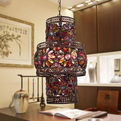 Европейский Ретро Лампы Гостиной Спальня Декоративные Светильники Искусство Бар Ресторан Вход Фонарь Подвесной Светильник