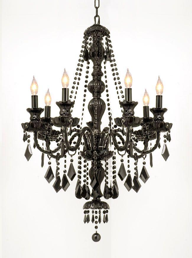 black chandelier lighting photo 5. Love This Jet Black Crystal SevenLight Chandelier By Gallery Lighting On Photo 5