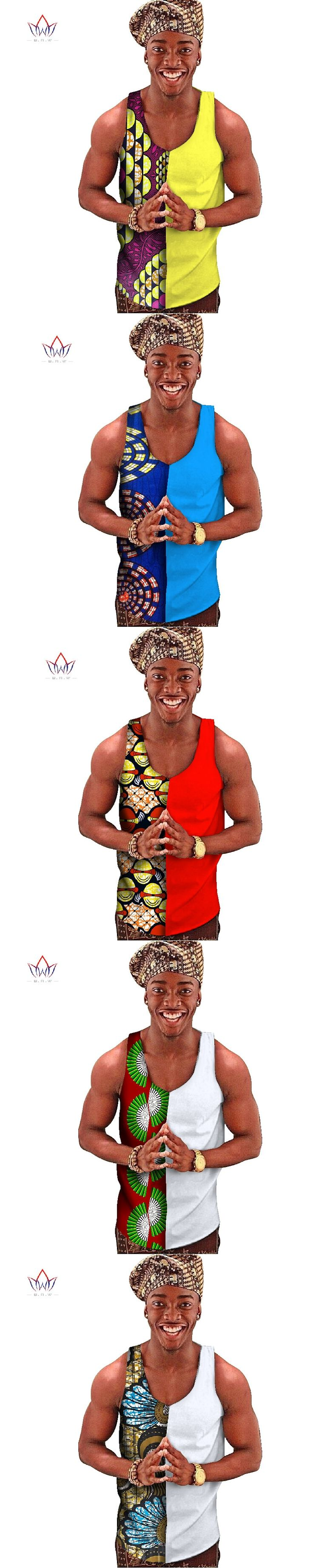 Traditional African Mens African Clothing Summer Mens Top Tees Dashiki African Print Mens Tops Clothes 6XL BRW WYN288