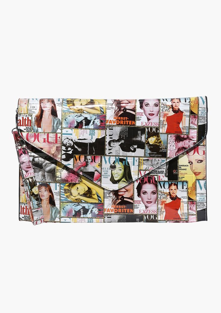 Vogue Inspired Magazine Purse in Multi   Necessary Clothing