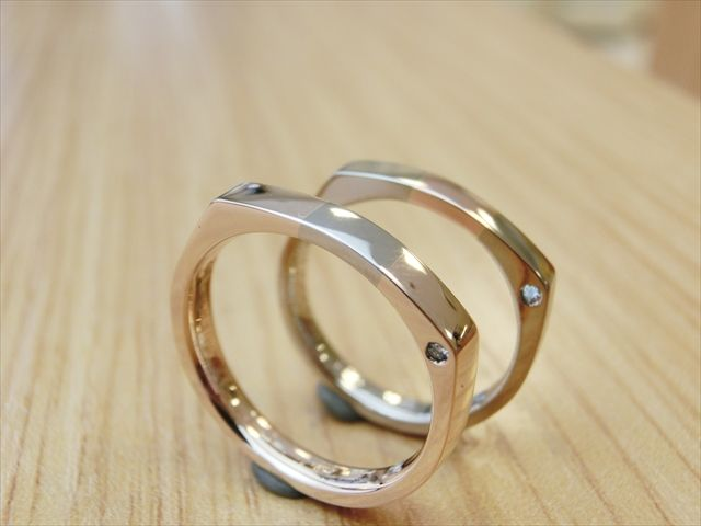 material:k18wg/k18pg wide:2.5mm/2.5mm option:diamond,birthstone http://www.yubiwatsukuru.com/