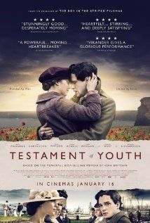 MUST SEE - Testament Of Youth. Beautifully acted and intricately filmed, it manages to balance historical scope of the narrative with the intimacy of one woman's story. It delivers an emotional beating but the beauty of the cinematography and the talent of the cast make it worth the bruises. Grade: A